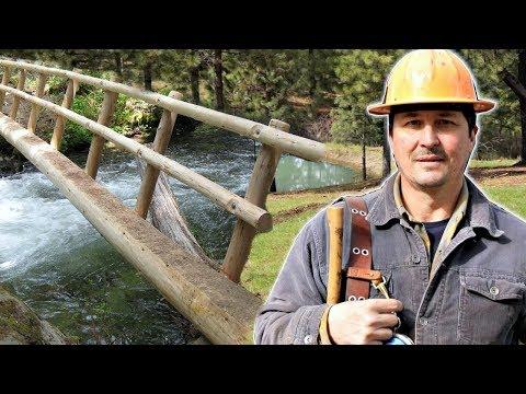 How To Build A Single Log Bridge 1