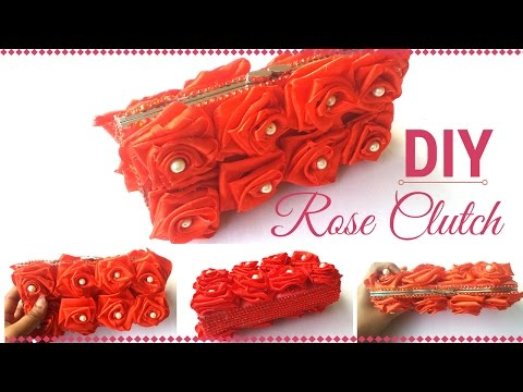 Beautiful DIY Rose Clutch Purse Making Tutorial For Girls and Teenagers | By Maya!