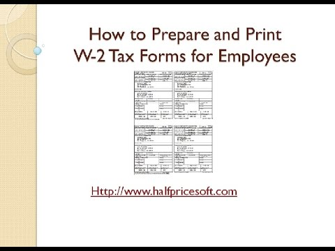 How to Print W2 Form for Employees