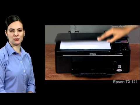 Epson Printer TX121 - How to make a BW copy from the Printer
