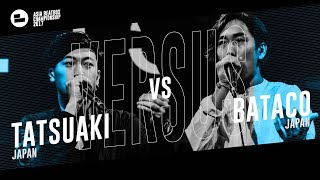 Tatsuaki (JPN) vs Bataco (JPN) Asia Beatbox Championship 2017  FINAL Solo Beatbox Battle