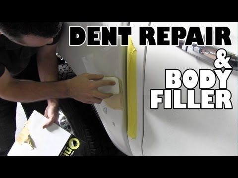 How to repair a dent and body filler tips