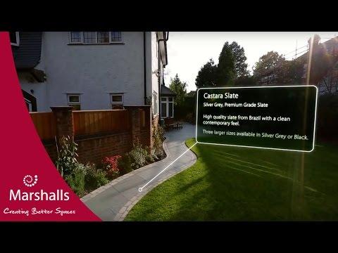 Natural Slate Garden   Casarta Slate   Garden Fly-Through   MarshallsTV
