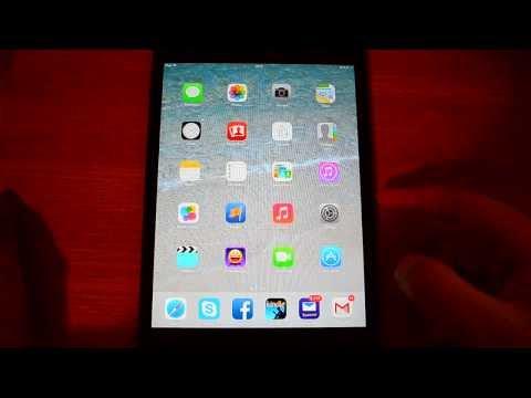 iOS 7 on iPad mini WiFi version - first look