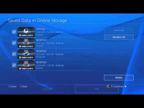Clearing PSN's Online Storage Via The PS4