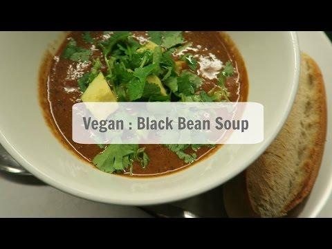 Black Bean Soup : VEGAN