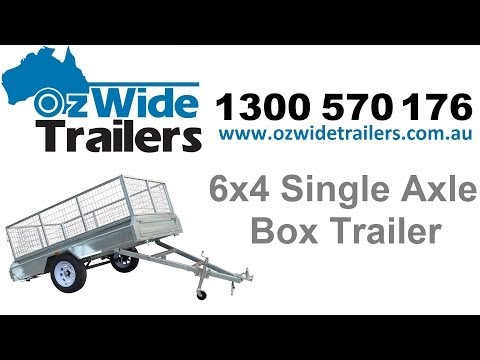 6x4 Single Axle Box Trailer - Oz Wide Trailers