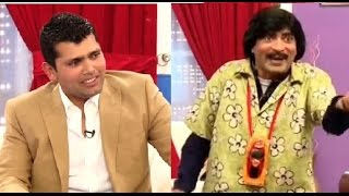 Sajan Ababas Stage Drama Comedian with Umer Akmal Pakistani Cricketer
