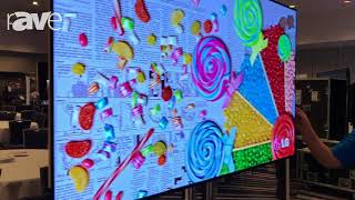E4 AV Tour: LG Business Solutions Highlights VH7B Display Series and OLED Wallpaper Display