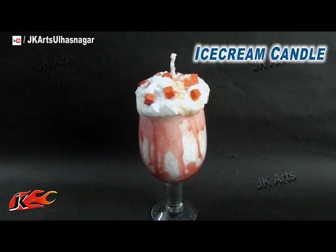 DIY Ice Cream Candle Tutorial | How to make | Gift Idea | JK Arts 734