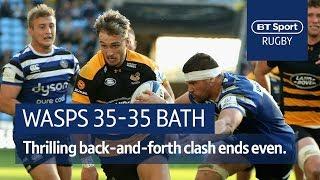 Wasps vs Bath (35-35) Heineken Champions Cup Highlights