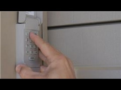 Garage Door Help : How to Change the Code for a Garage Door Opener