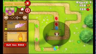 The wizard duo (random series S1EP1) Bloons Tower Defense 5 game play
