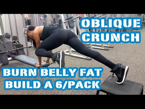 Get A Flat Tummy & a Six Pack w/The Oblique Crunch  Burn Belly Fat - Day 14