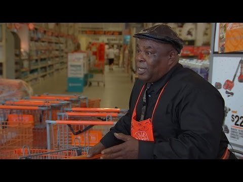 Singing Home Depot Greeter Knows How To Brighten His Customers' Spirits