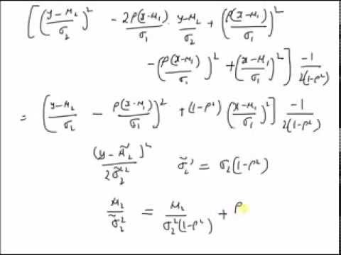 Bivariate Gaussian pdf to Marginal pdf