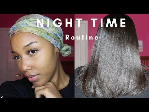How To Wrap Your Hair   Night Time Routine for Straight hair /Silk Press