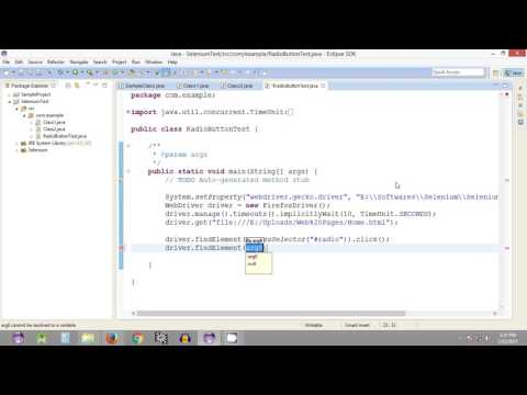 Selenium Tutorial #24 - Selenium WebDriver - Working with Radio Buttons - Part 2