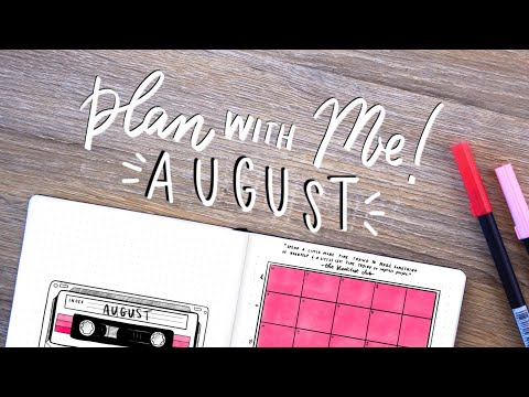 Plan With Me! August Bullet Journal Set-Up 80's Retro Theme
