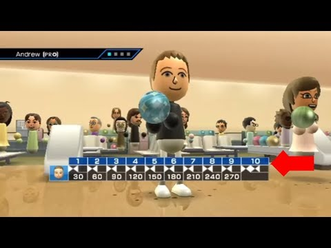 Wii Sports Bowling - Perfect Game - 300 Score!