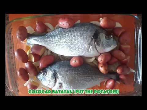 Portuguese Fish Recipe - Peixe assado no forno - Fish in the Oven
