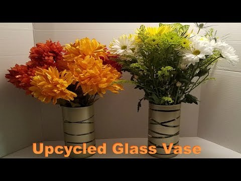 DIY UPCYCLED GLASS VASE - VIEWER'S REQUEST | DOLLAR TREE DIY 2017