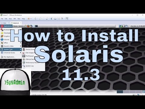 How to Install Oracle Solaris 11.3 + Review + VMware Tools on VMware Workstation Tutorial [HD]