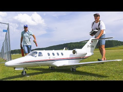 RC MODEL PRIVATE JET CESSNA C-525 CITATION JET FLIGHT DEMO!! *REMOTE CONTROL PLANE