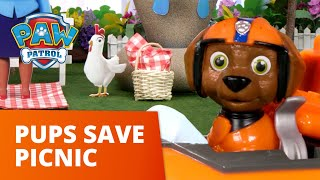 The Picnic Puddle Problem! ⛲ PAW Patrol Toy Pretend Play Rescue