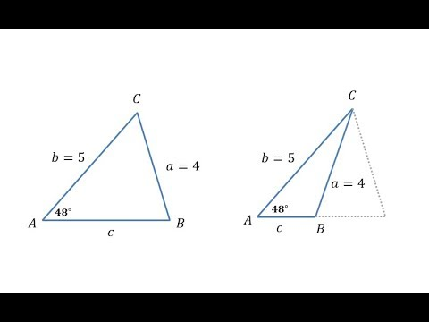 The Law of Sines - Two Solutions (SSA)