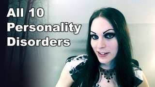 General overview of all 10 primary personality disorders. They are separated into three clusters including odd, dramatic, and anxious. Under these clusters are paranoid, schizoid, schizotypal, antisocial, borderline, histrionic, narcissistic, avoidant, dependent, and obsessive-compulsive.  I DO NOT CLAIM TO HAVE ANY OF THESE DISORDERS.  —Chapters— 0:59 - Cluster A (Odd) 1:29 - Paranoid 2:19 - Schizoid  3:26 - Schizotypal 4:40 - Cluster B (Dramatic) 5:05 - Antisocial 5:57 - Borderline 8:29 - Histrionic 9:42 - Narcissistic 10:52 - Cluster C (Anxious) 11:14 - Avoidant 12:35 - Dependent 13:31 - Obsessive-compulsive  —Related Videos— ► Types of Borderline - https://www.youtube.com/watch?v=OE4YuU9pwZU ► Change Your Personality - https://www.youtube.com/watch?v=WfP6nPpEPbQ ► Schizophrenia - https://www.youtube.com/watch?v=4MQy3iOtnB0 ► OCD - https://www.youtube.com/watch?v=GZUsgOgDp4o  —My Website— Article - https://autumnasphodel.com/?p=129  —Help Translate— Captions - https://www.youtube.com/timedtext_video?v=ijMPEgMxras
