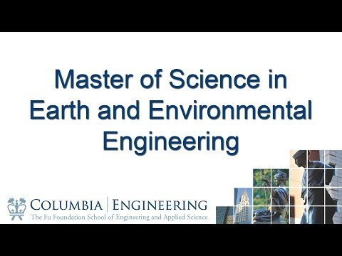Master of Science in Earth and Environmental Engineering