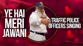 Karachi traffic police singing song beautiful weather