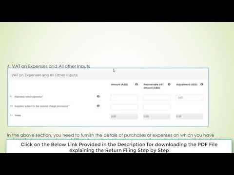 How to File Vat Return in UAE Step by Step in FTA Portal