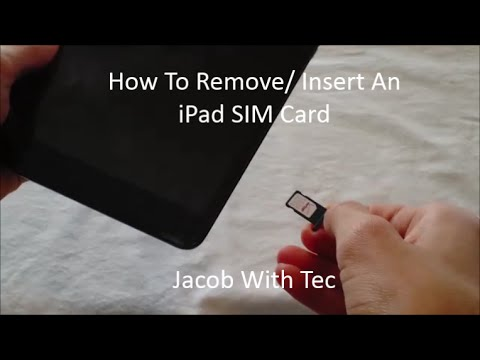 How To Remove/ Insert An iPad SIM Card