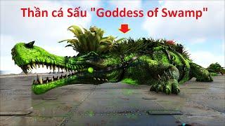 """ARK: Ragnarok Mod #14 - Taming Thành Công Thần Cá Sấu """"Goddess of Swamp"""", Khá Mạnh Nha Các Bạn 👍🤩"""