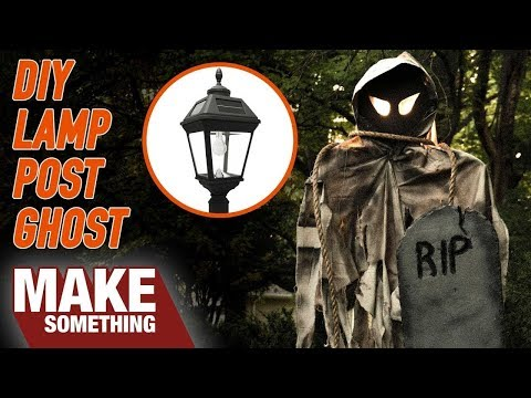 DIY | Outdoor Halloween Decor Ghost