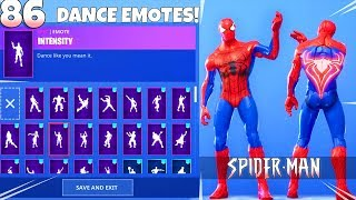 Download SPIDER-MAN SKIN! with DANCE EMOTES SHOWCASE! Fortnite Battle Royale Video