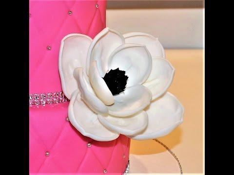 Cake decorating tutorials | how to make a fondant magnolia flower | Sugarella Sweets