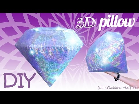 How To Make A Diamond Pillow – DIY 3D Holographic Gemstone Pillow