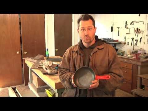 Le Creuset Cast-Iron Pan Teflon removal