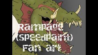 Rampage (speedpaint) fan art
