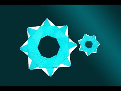 Easy Origami Christmas Snowflake! Christmas wreath