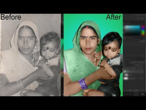 extraordinary photoshop skill  old damaged photo restoration video not for beginner.