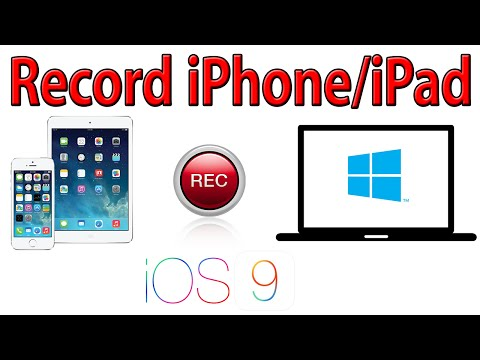 How to Record Your iPhone and iPad Screen on a Windows PC (for iOS9) - no jailbreak