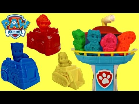 Paw Patrol To The Rescue Dough Playset with Play-doh Molds, Cars & Look Out Tower