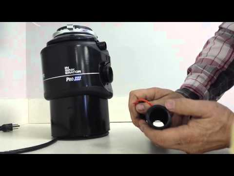 Fig 14D Installing Flex p trap with Disposal Insinkerator Pro333