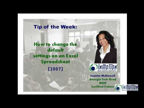How to Change the Default Settings in Excel