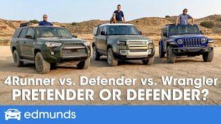 2020 Land Rover Defender vs. Wrangler vs. 4Runner — The New Defender Goes Off-Road With the Big Boys