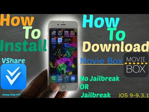 iOS 9.2.1/9.3.1/9.2/9.0:How To Install (Vshare Pro) | How To Download NEW (Movie Box) - No Jailbreak